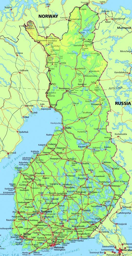 Mapa Finska